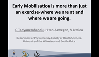 Early mobilisation is more tha...