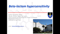 Beta-lactam hypersensitivity...