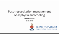 Post-resus management of asphy...