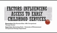 Access to early childhood serv...