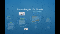 Prescribing in the elderly...