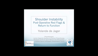 Shoulder instability - post op red flags...