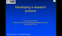 Developing a research protocol...