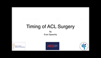 Timing of ACL surgery...