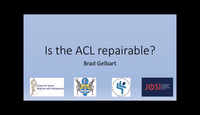 Is the ACL repairable...