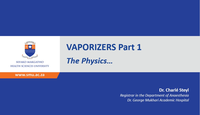 Vaporisers part 1 - The physic...