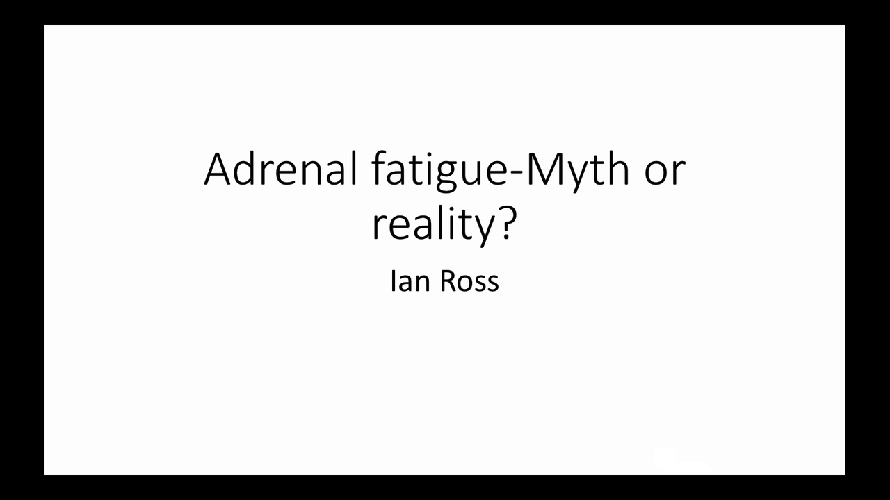 Adrenal fatigue - Myth or Real...