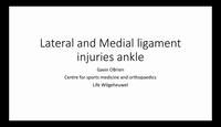 Lateral and medial ligament in...