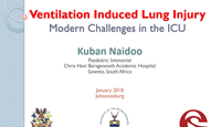 Ventilation induced lung injur...