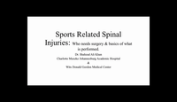 Sports related spinal injuries...