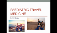 Paediatric travel medicine...