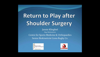 Return to play after shoulder surgery...