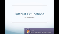 Difficult extubations...