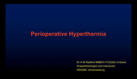 Peri-operative hyperthermia...