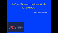 Is quad tendon the ideal graft...