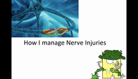 How I manage nerve injuries...