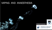 Vaping and anaesthesia...