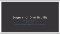 Surgery for diverticulitis...