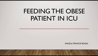 Feeding the obese patient in I...