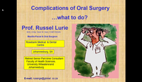 Part 1 - Complications of oral...