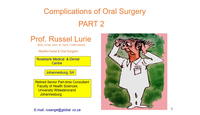 Part 2 - Complications of oral...